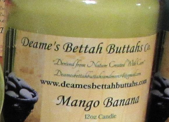 Mango Banana Leaf Soy Candle