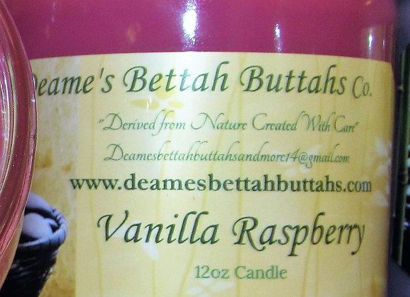 Vanilla Raspberry Soy Candle