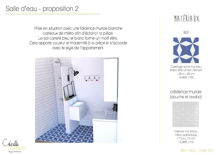 3D sdb & propositions matériaux