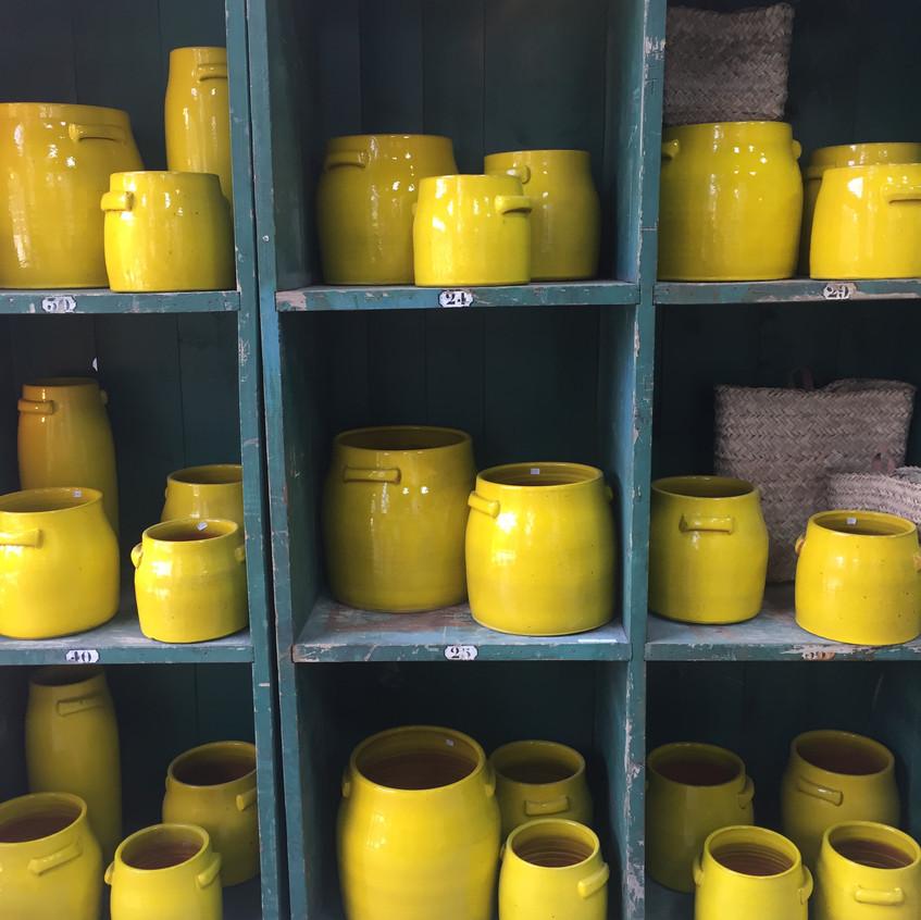 Yellow ceramic