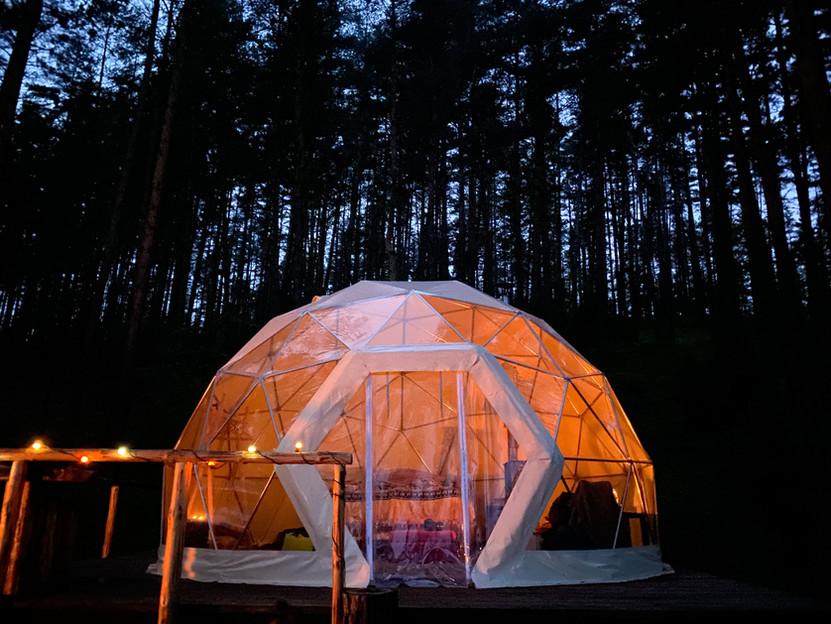 Asalnų kreminis kupolas - vakare
