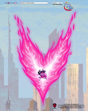 DC Superhero Girls: Violet Lantern Heart Flame EFX