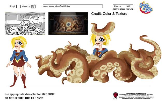 DC Superhero Girls: Octopus Legs prop