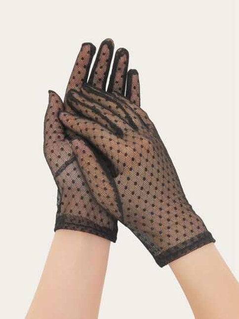Contrast Lace Gloves