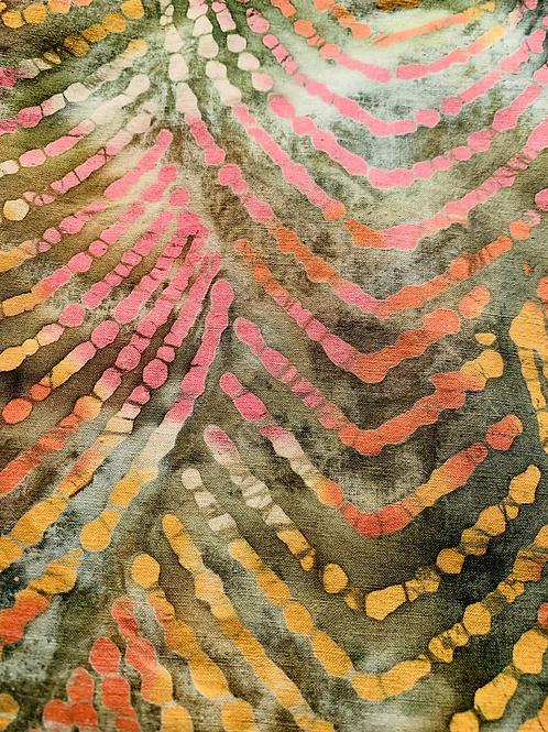 Batik in Green, Pink, and Yellow