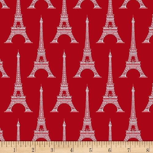 Michael Miller Fabrics Wanderlust Tourist Attraction Red