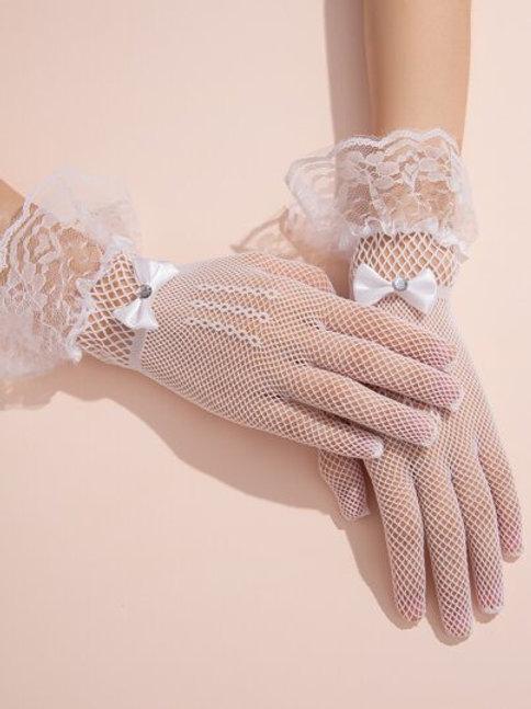Bow Mesh Gloves