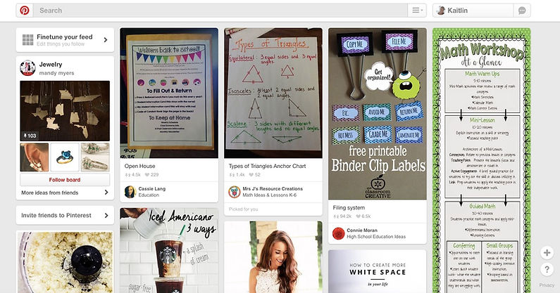 Educatonal Pinterest Example