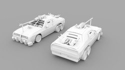 Firearms Car Grayscale