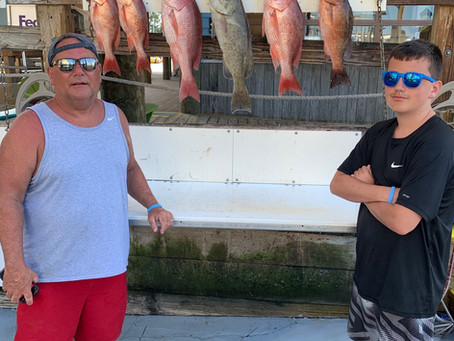 Red snapper season is here .