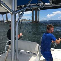 Bridge fishing Crab Island