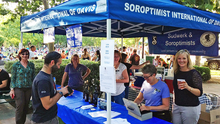 Soroptimist Interntional of Davis Beer Booth at the Davis Farmers Market in Central Park