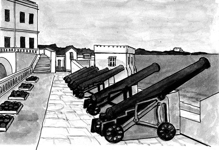 Cannons at Elmina Castle