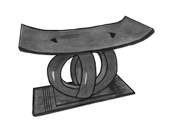 A black stool