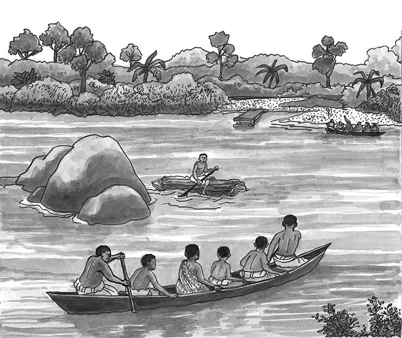 Crossing the Pra River