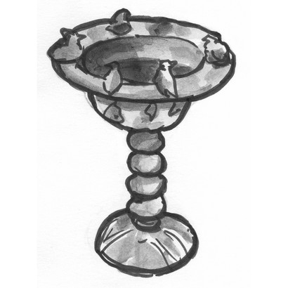 Brass lamp for the Queen Mother