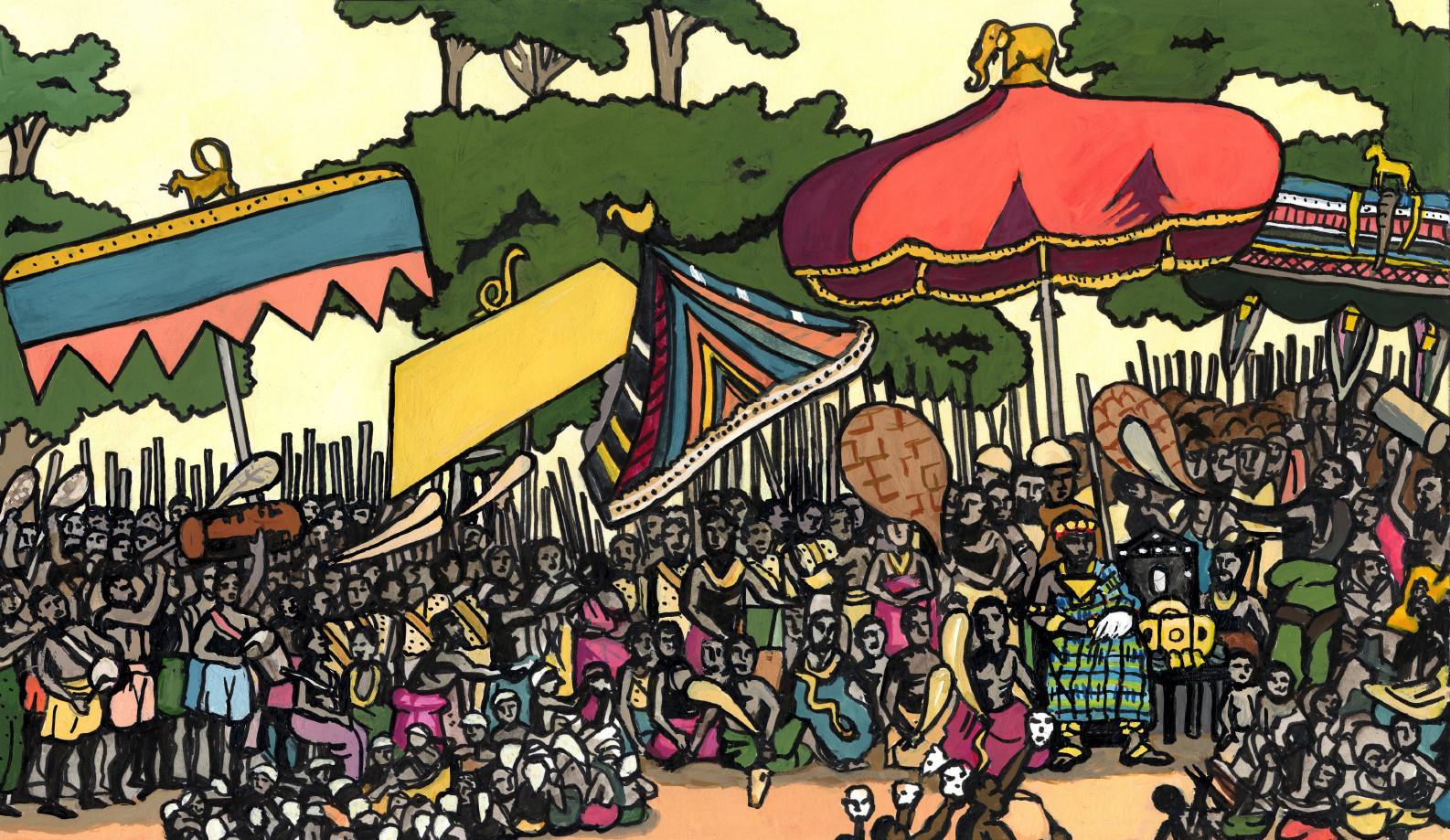 The Odwira festival in Kumasi