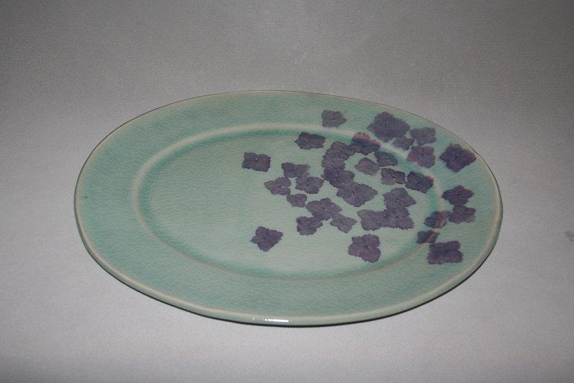 Large oval hydranga platter