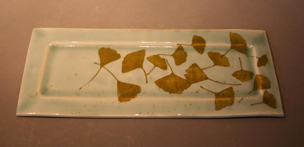 Gingko leaf platter