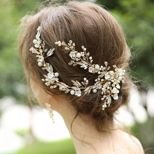 Stunning Gold Bridal Hair Vine/Headpiece