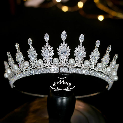 Beautiful Silver and Pearl Bridal Tiara.Also in Silver