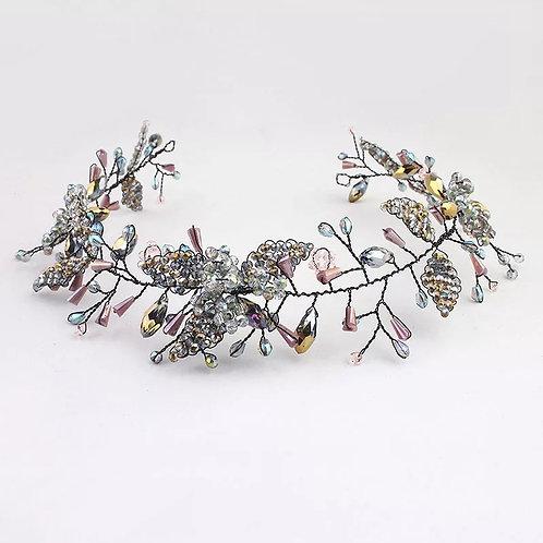 Beautiful Black Crystal Bridal Hairvine/Headband