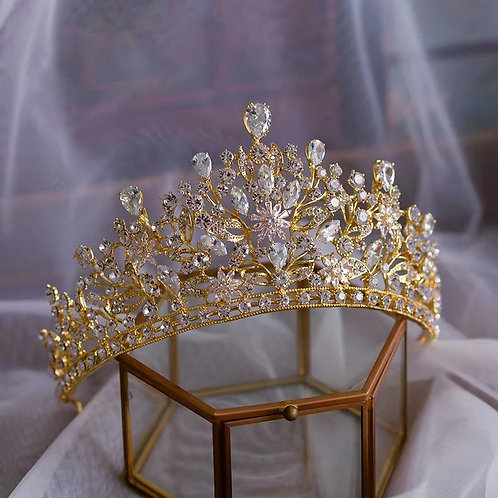 Beautiful Gold and Crystal Bridal Tiara.Also in Silver