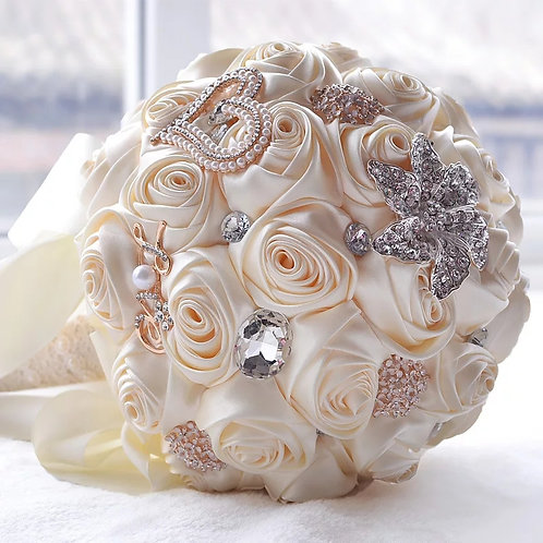 Stunning Bridal Bouquet with Crystals & Pearls