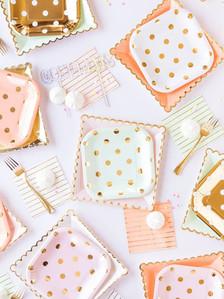 polka dot & scalloped paper goods