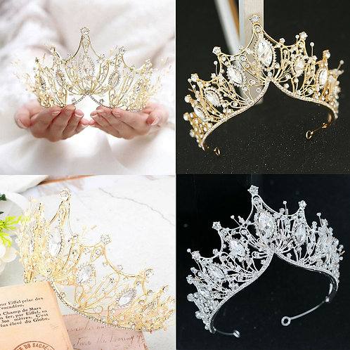 Beautiful Silver Bridal Tiara Adorned with Crystals.Simply stunning!