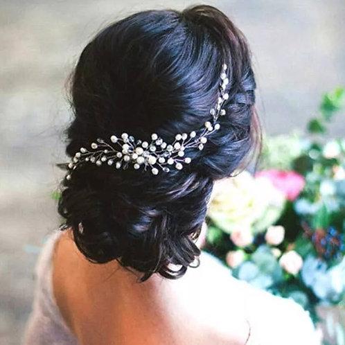 Silver & Pearl  Bridal Headpiece/comb