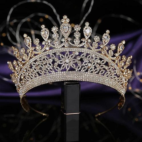 Beautiful Gold and Crystal Bridal Tiara