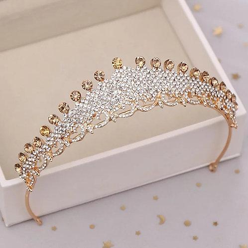 Beautiful Handmade Bridal Tiara in Gold