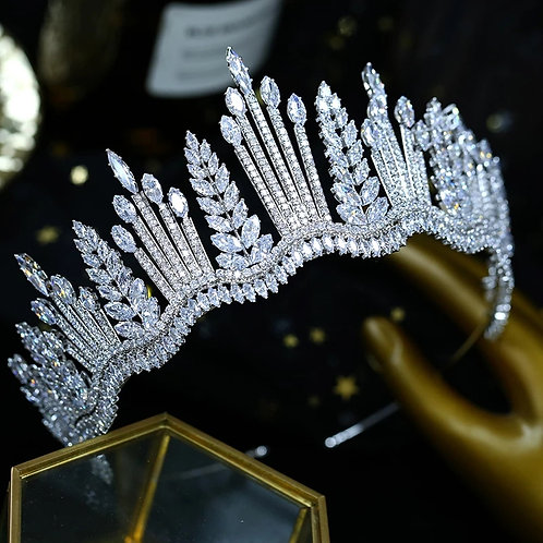 Beautiful Silver and Crystal Bridal Tiara.Also in Silver