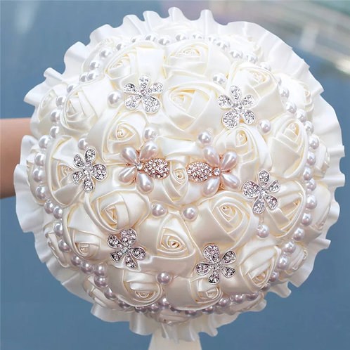 Beautiful Bridal Brooch Bouquet with Pearls in 3 Colours