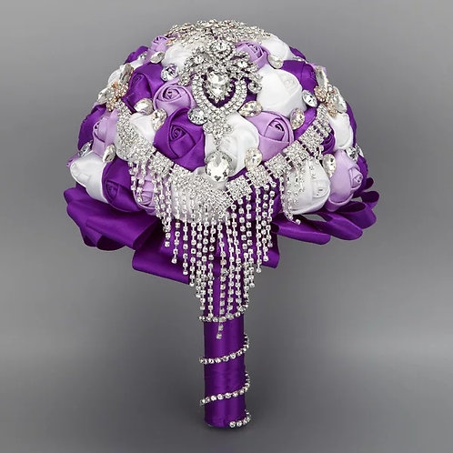 Exsquite Wedding Bouquet with Crystals in a range of Colours