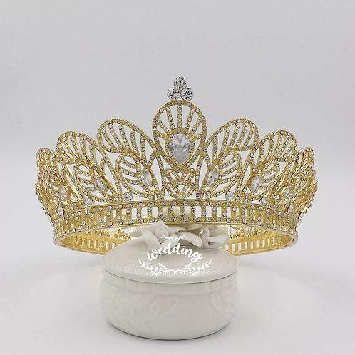 Beautiful Gold Bridal Tiara with Beautiful Crystals.