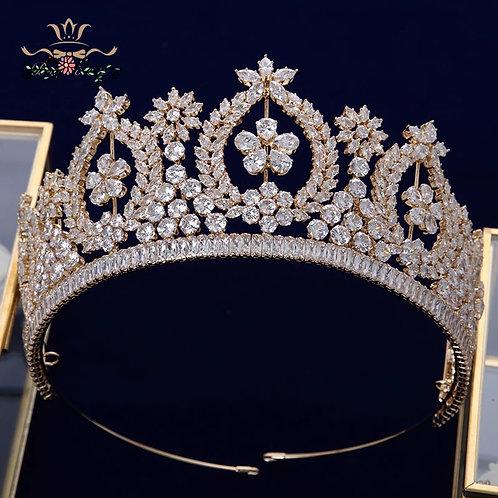 Beautiful Gold and Swarovski Crystal Bridal Tiara
