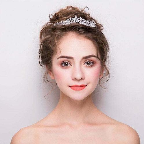 Beautiful Handmade Bridal Tiara with Stunning Flower detail