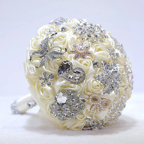 Exsquisite Brooch wedding Bouquet in a Choice of 2 Colours