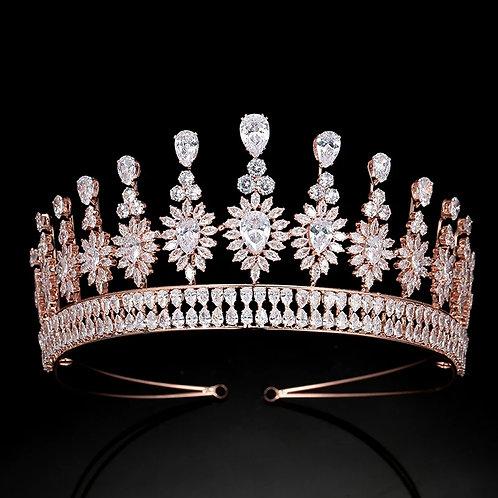 Beautiful Rose Gold and Crystal Bridal Tiara.Simply Stunning
