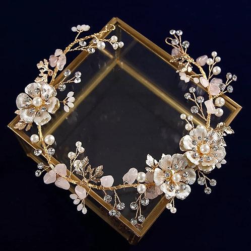 Beautiful Gold Floral Bridal Headpiece/Headband