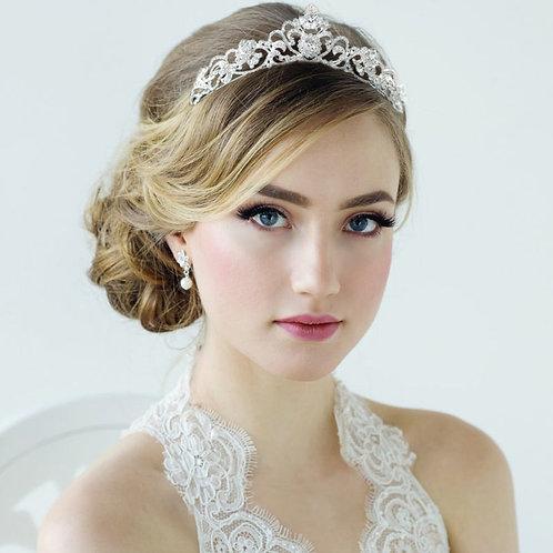 Beautiful Silver Bridal Tiara Adorned with Crystals.Simply stunning!