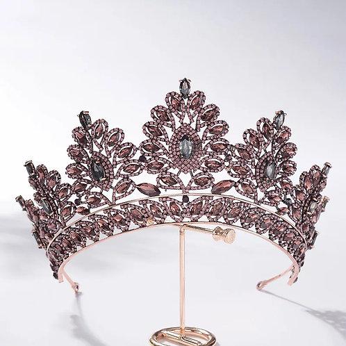 Lovely Gold & Purple Princess Style Bridal Tiara