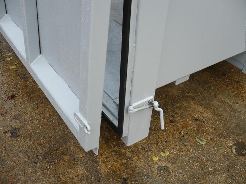 Neoprene sealed door