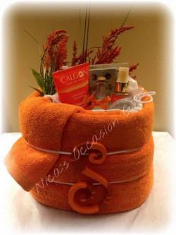 Custom Spa Towel Cake