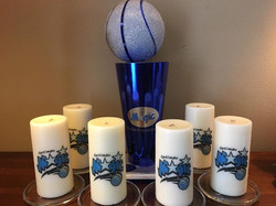 Custom Trophy and Candle Set