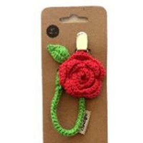 Crochet Flower Pacifier Holder