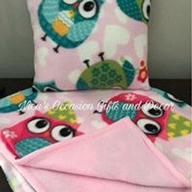 Baby Accent Pillow and Blanket Set
