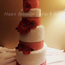 Custom 6 pc Wedding Towel Cake